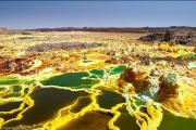 Вулкан Даллол и его пейзажи