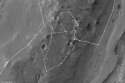 Opportunity завершил обход области на краю марсианского кратера