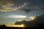 Над Шотландией небо окрасилось в перламутровые цвета